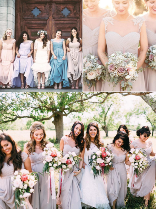 dd33876779d Morilee by Madeline Gardner Style 106 Illusion Neckline Long Chiffon  Bridesmaid Dresses.