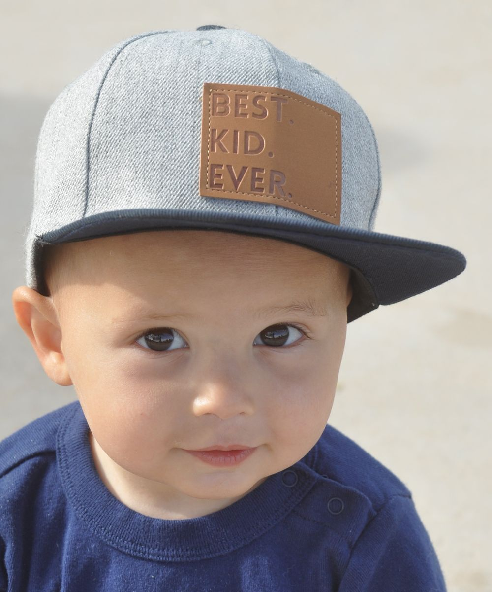 Gray 'Best Kid Ever' Baseball Hat