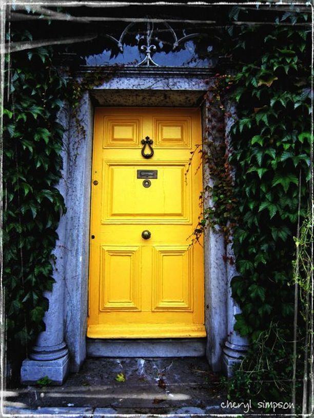 Colored Doors Yellow Front Doors Yellow Doors Doors
