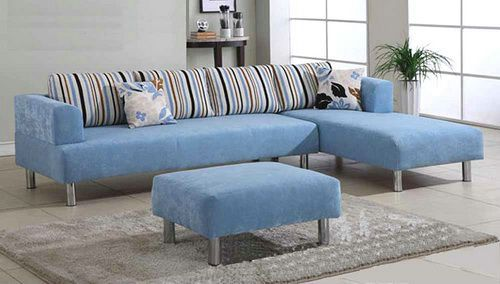 Sky Blue Apartment Sectional Sofas Chaise | Sectional Sofas ...