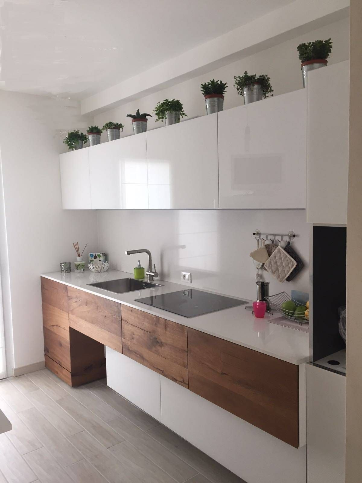 100 idee di cucine moderne con elementi in legno | Idée cuisine ...