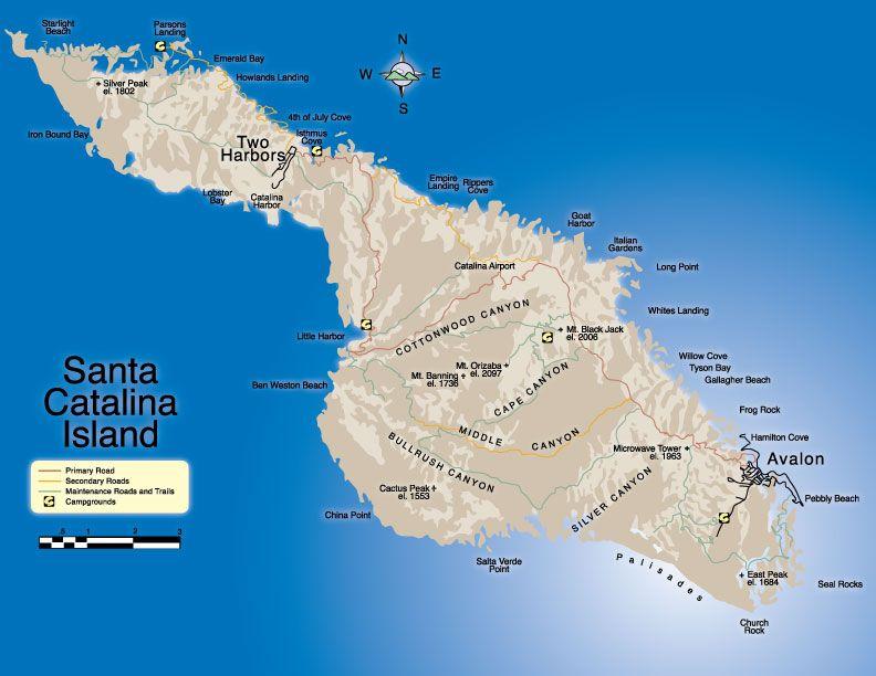 catalina island | Catalina Island Map | Maps of Exotic Lands I ... on