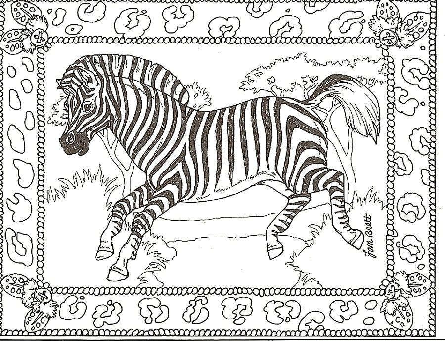 Zebra Coloring Pages