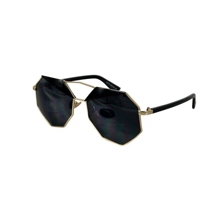 Ucspai Geometric Polygon-shaped Sunglasses in Black