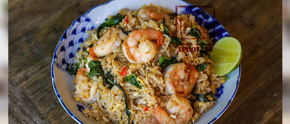 Photo of Fried rice with basil and shrimp