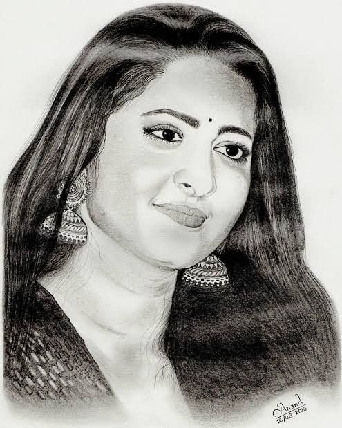 Pin by Anushka Shetty on Anushka Shetty Sketch's Paintings ...