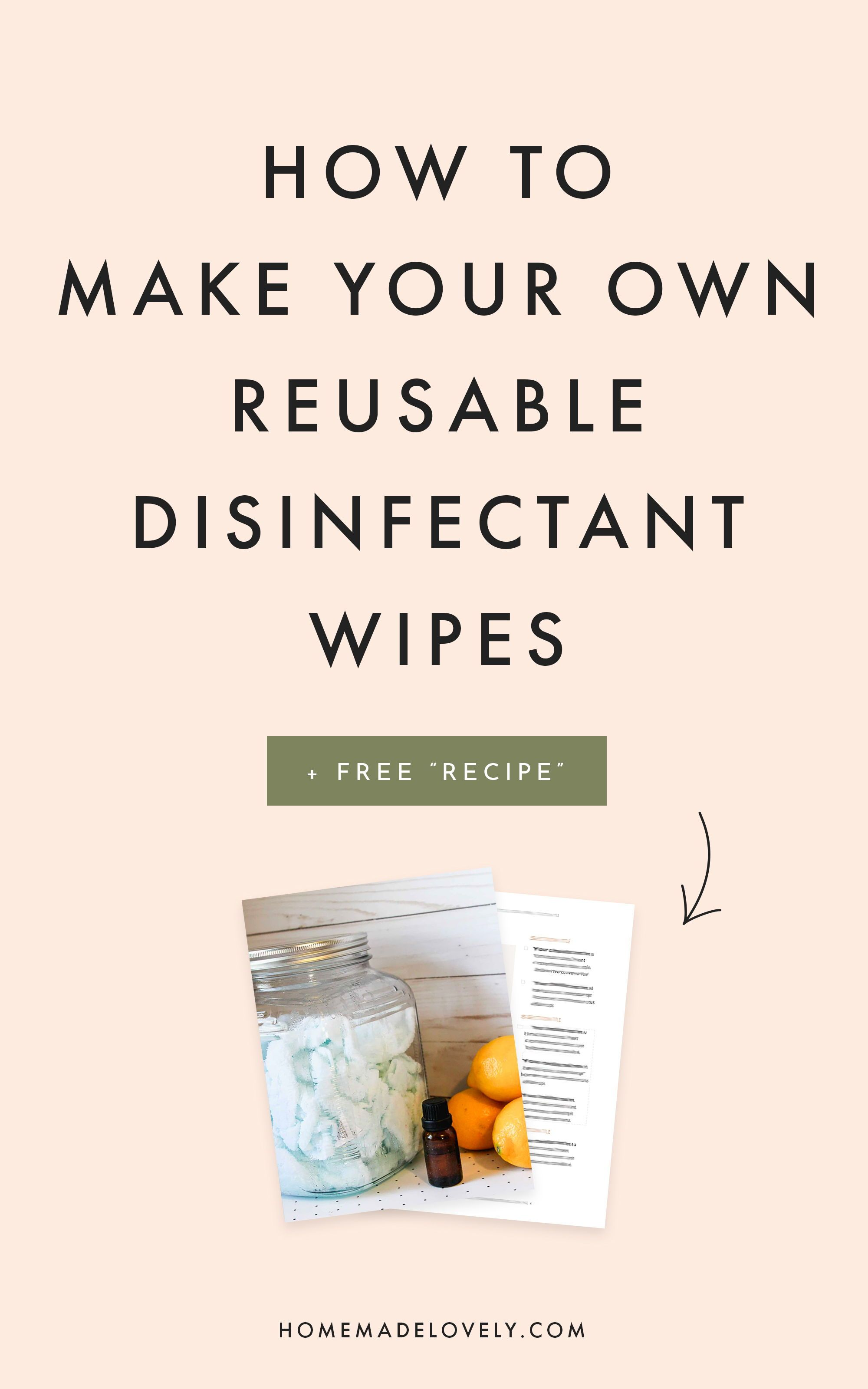 "How to Make Disinfectant Wipes / Reusable DIY ""Clorox"