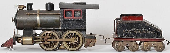 b>Lionel prewar standard gauge No  5 steam loco with tender