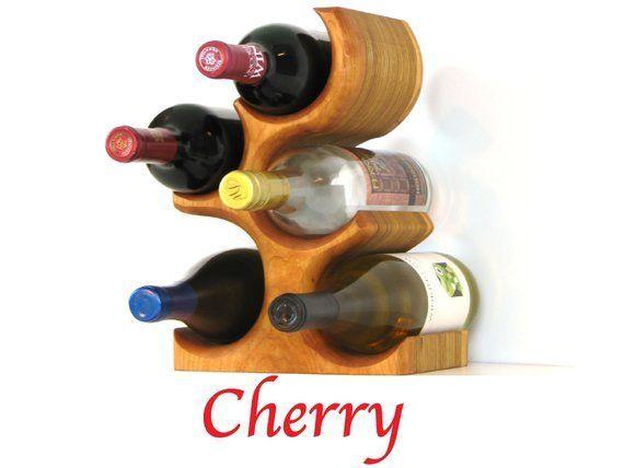 Tabletop Wood Wine Rack | 5 Bottle Standing Wine Rack | Countertop Wine Bottle Holder | Wood Wine Tr #alternative #alternativefashion #alternativegirl #alternativemedicine #alternativeenergy