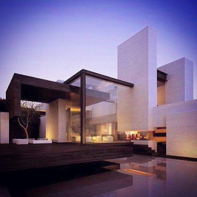 Modern Residential Exterior By Ar Sagar Morkhade: Beautiful Cubist Dwelling Via Architecture Hunter