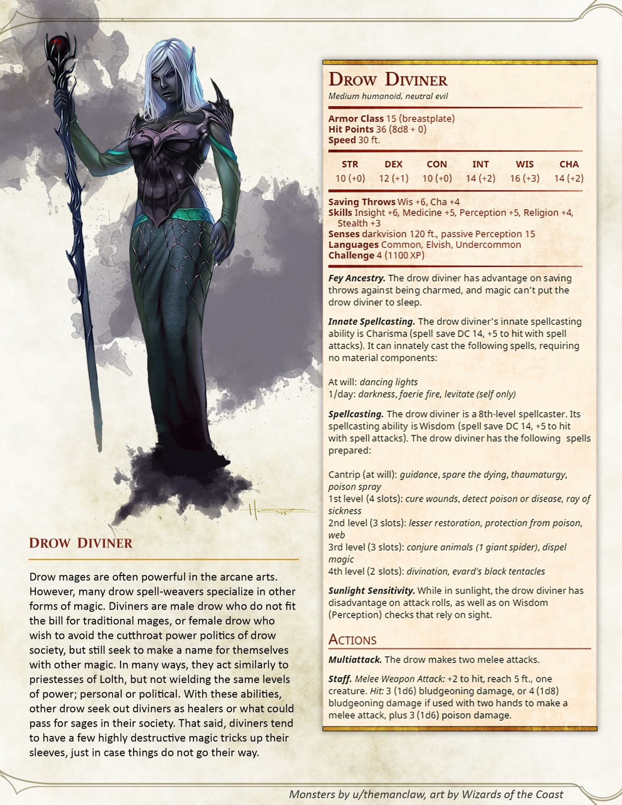 DnD 5e Homebrew — Drow Expansion Pack by themanclaw