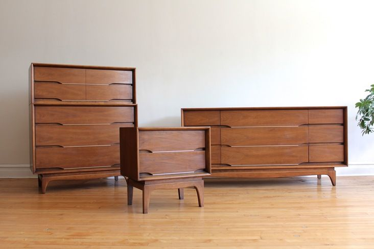 Mid century modern master bedroom danish modern bedroom - Used queen bedroom sets for sale ...