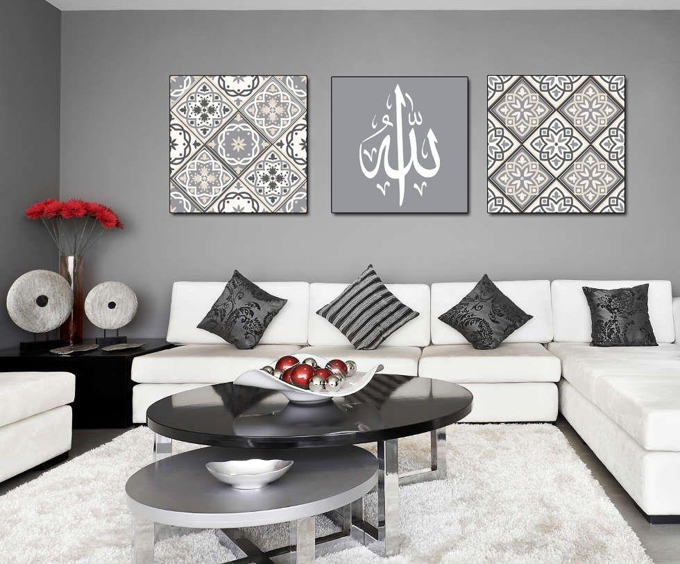 pingl par nawel moumen sur deco oriental touch pinterest stickers tableau triptyque et. Black Bedroom Furniture Sets. Home Design Ideas