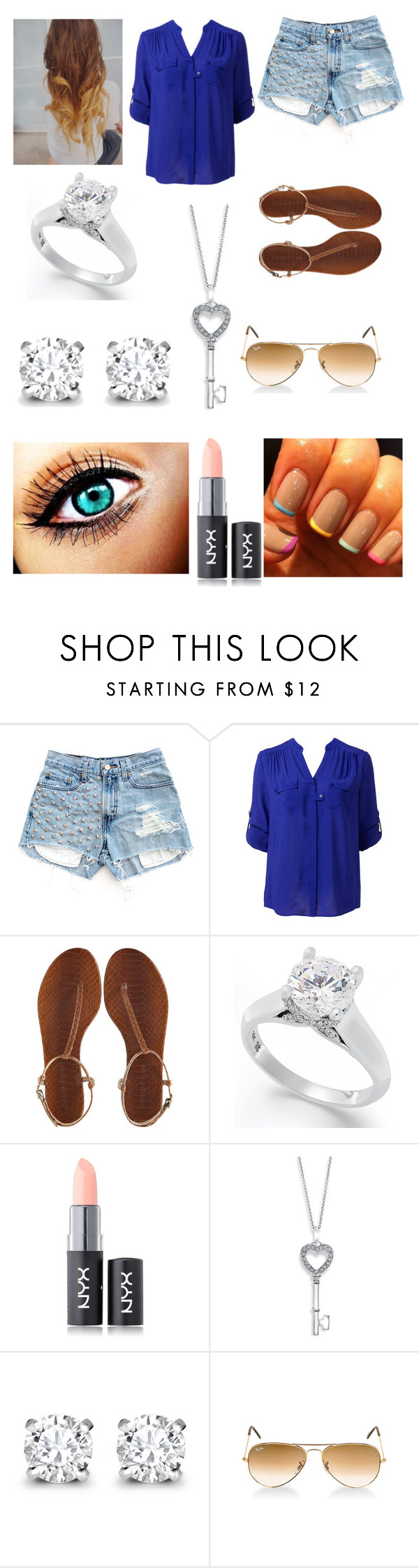 """""""telling management"""" by jademarsh ❤ liked on Polyvore featuring Levi's, Forever New, Avec Modération, R.H. Macy's & Co., NYX, Bony Levy, Asprey and Ray-Ban"""