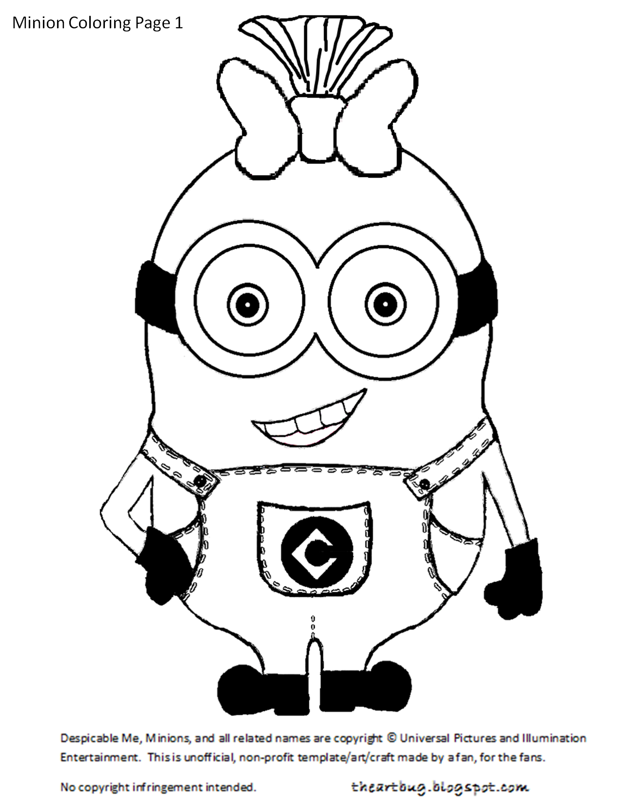 FREE PINK Minion Theme Party Printables  Minion coloring pages
