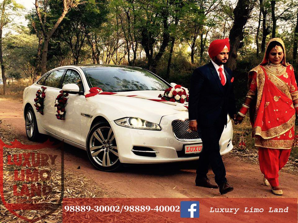 Bon #jaguar For Wedding In Punjab... Luxury Wedding Cars Are Committed To
