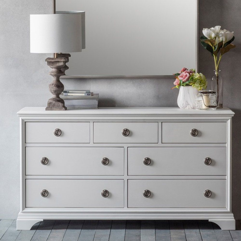 AURELIA 7 DRAWER CHEST by Frank Hudson | Grey Chest of Drawers ...