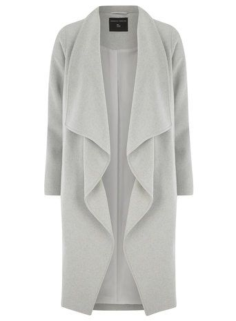 Grey Wool Waterfall Coat | Gray, Coats and Clothes