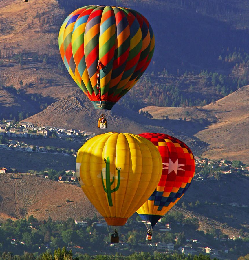 Balloons Over Reno by Dorothy Cunningham Balloons, Air