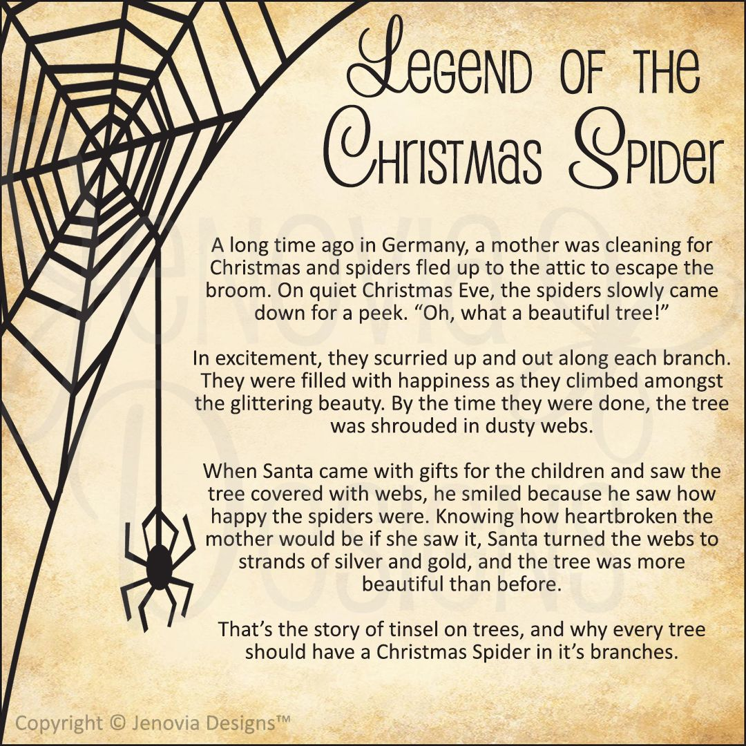 picture about Legend of the Christmas Spider Printable named Legend of the Xmas Spider Legend Studies Xmas