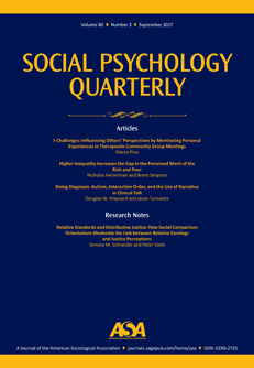 Social Psychology Quarterly   Our Magazines and Journals