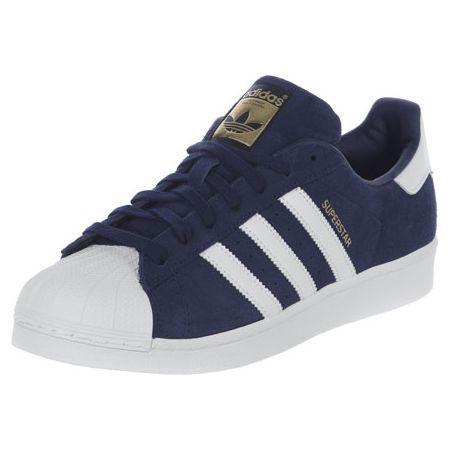 adidas Superstar Suede schoenen blauw wit | Suède schoenen ...