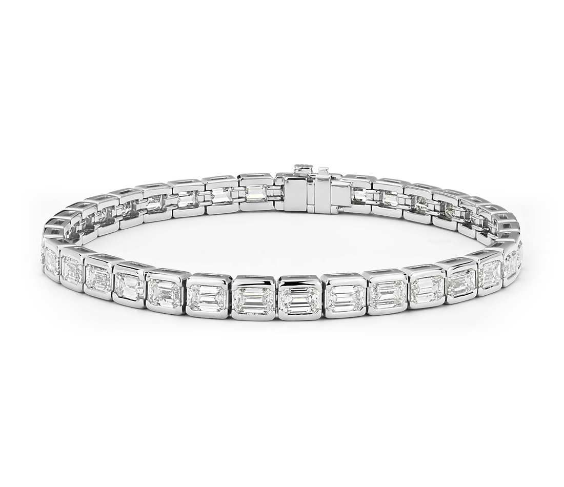 tennis gold diamond ct tw bracelet white pin in eternity