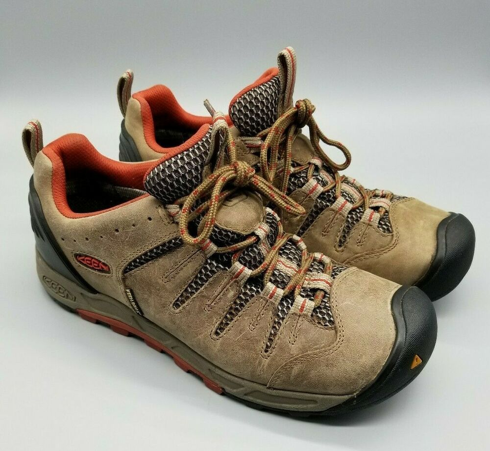 Keen Dry Men S Waterproof Ankle Boots Hiking Brown Leather Size