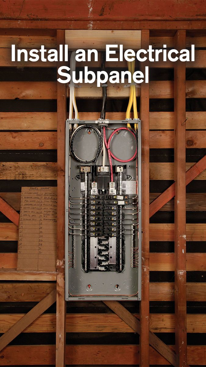 How To Install An Electrical Subpanel Home Electrical Wiring Diy Electrical Electrical Panel