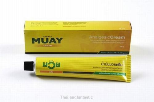 Muay Thai Boxing NAMMAN MUAY Analgesic CREAM 100 g Relieves muscular aches pain