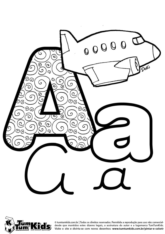 doki-alfabeto-letra-a-imprimir | escola | Pinterest | Pre kinder ...