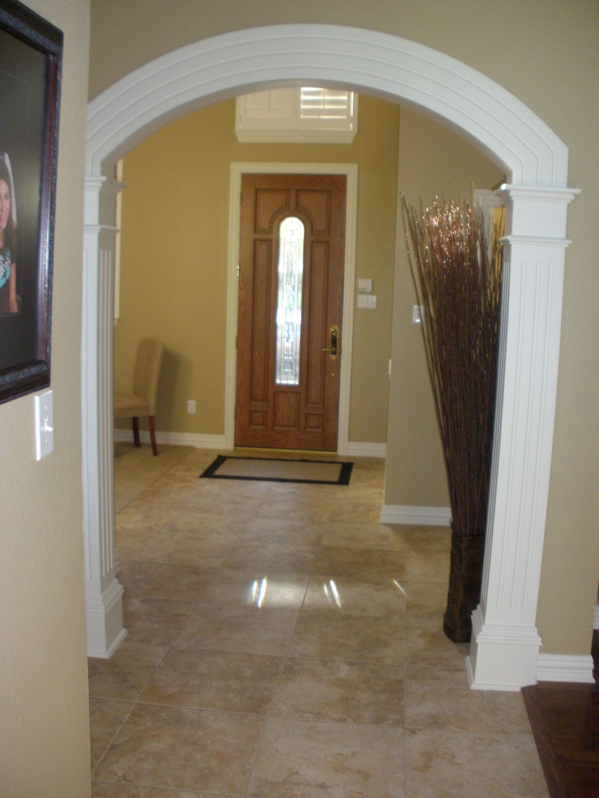 No Foyer Ideas : Front door foyer new tile no more hunter green for
