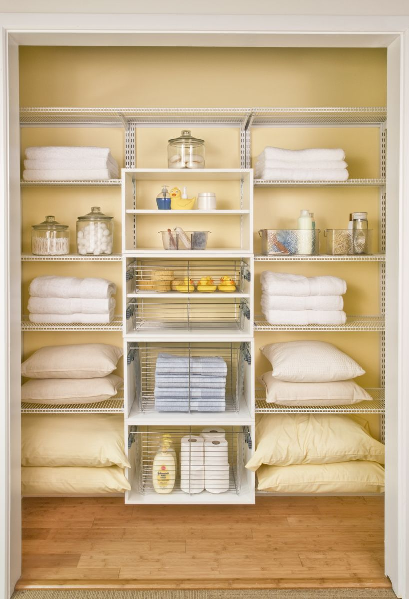 15 Clever Organization Ideas For Small Spaces Linen Closet Storage Linen Closet Shelves Linen Closet