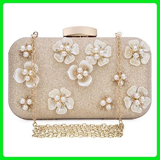 d0e7286a9e5 Chichitop Women's Floral Beaded Design Evening Clutch Bags Wedding Purse  Golden - Evening bags (*Amazon Partner-Link)