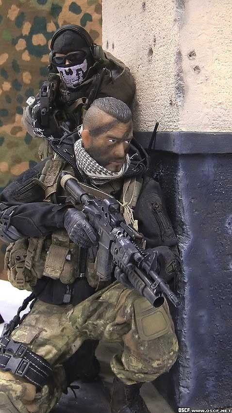 Miniature 1//6th Scale Police Tactial Vest w//Shells