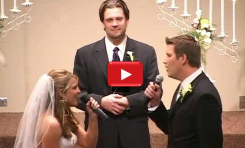 Bride and Groom Singing \