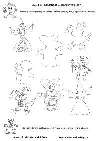 Karneval - pracovný list z ABC materské školy