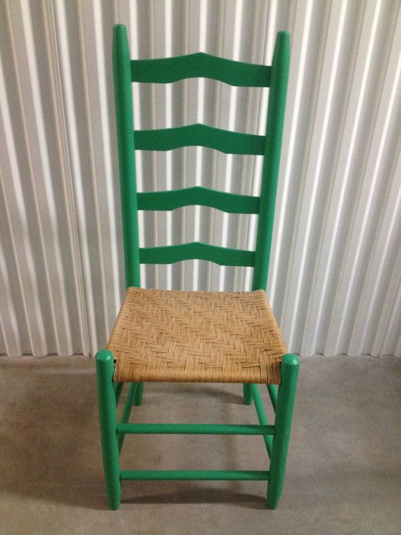 Love The Color And Woven Seat Ladder Back Chairs Redo