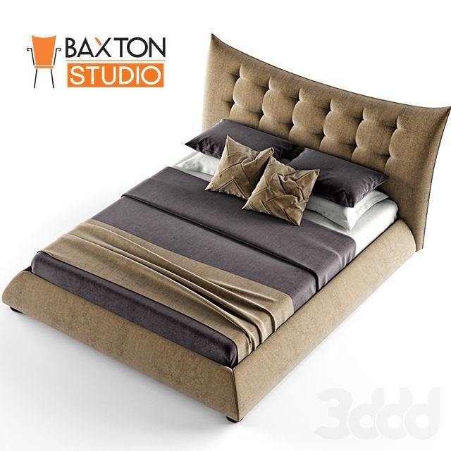модели Кровати Baxton Studio Marguerite Dark Beige Linen Modern Platform Bed Queen