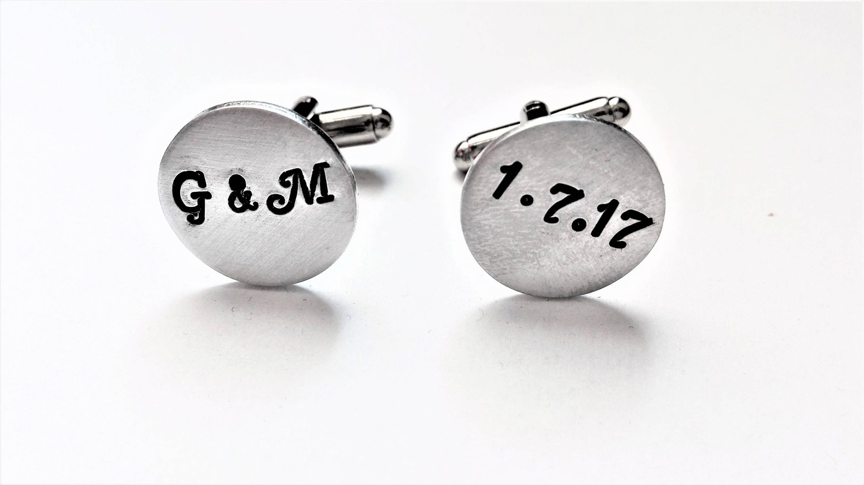 Personalized Cufflinks Wedding Cufflinks Custom Cufflin My Etsy