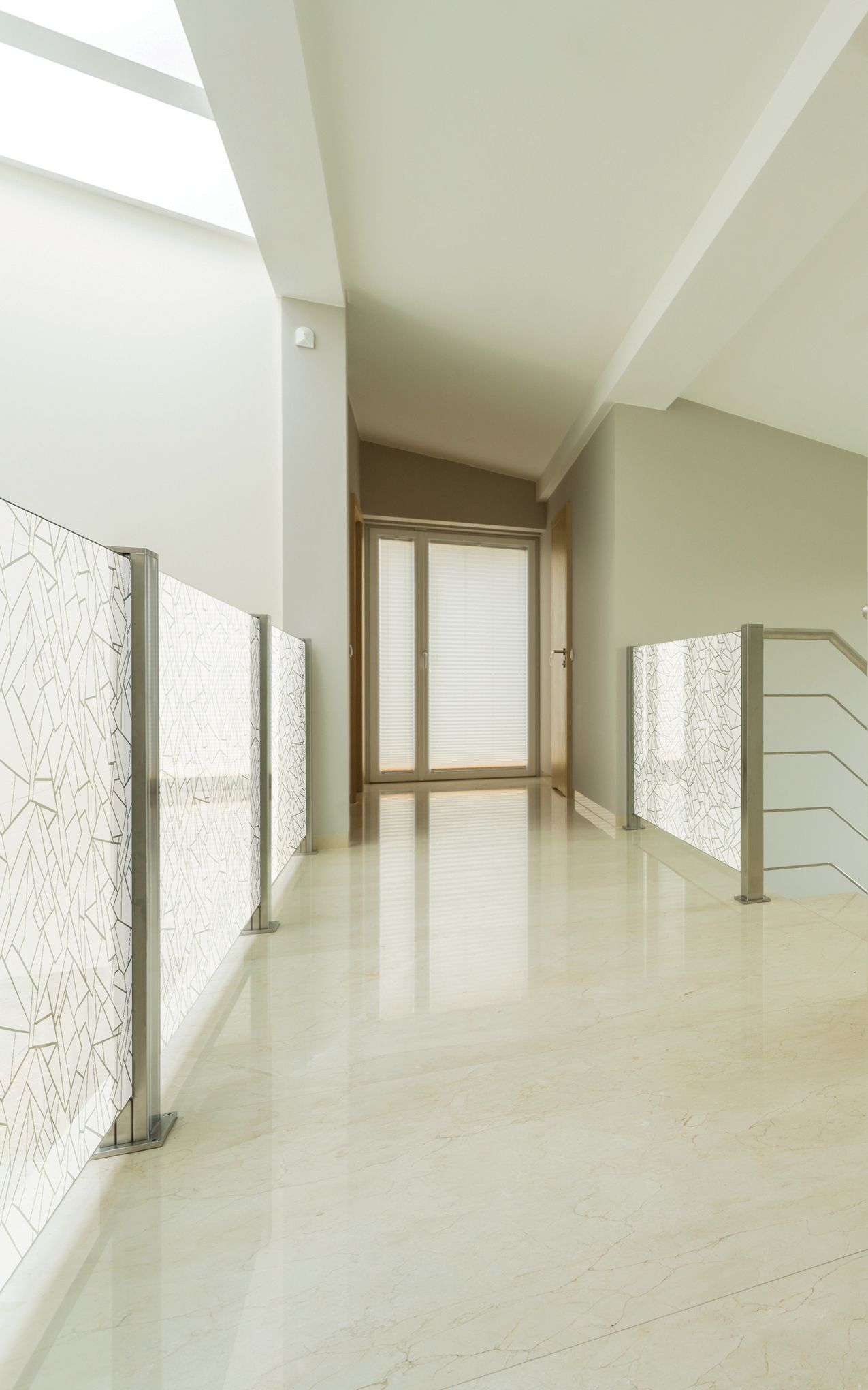 Decorated With A Repeating Polygonal Pattern This Frosted Window Film Provide Modern Touch Of