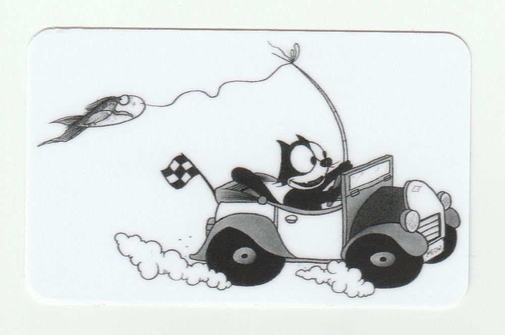 FELIX The Cat STICKERS Racecar Fishing print Classic ART comic cartoon CUTE pole