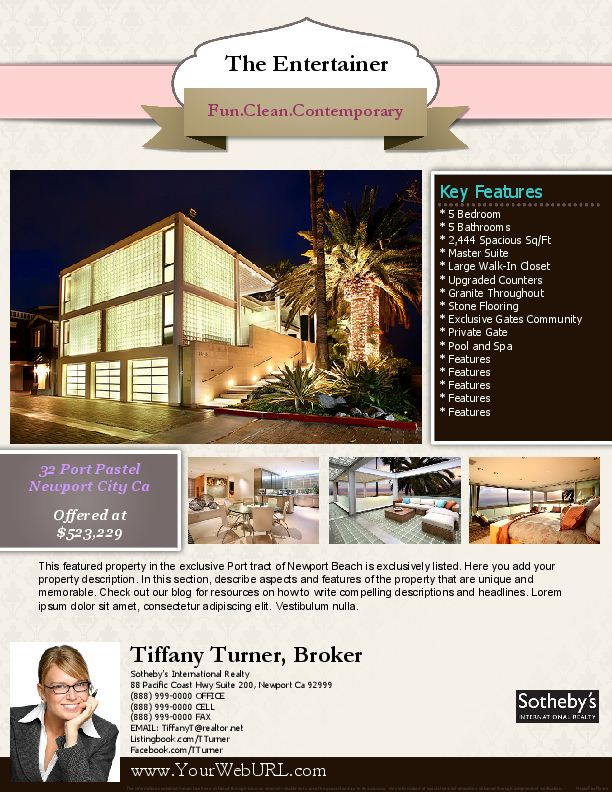 Nice Flyer Gallery  Real Estate Marketing Flyer Templates