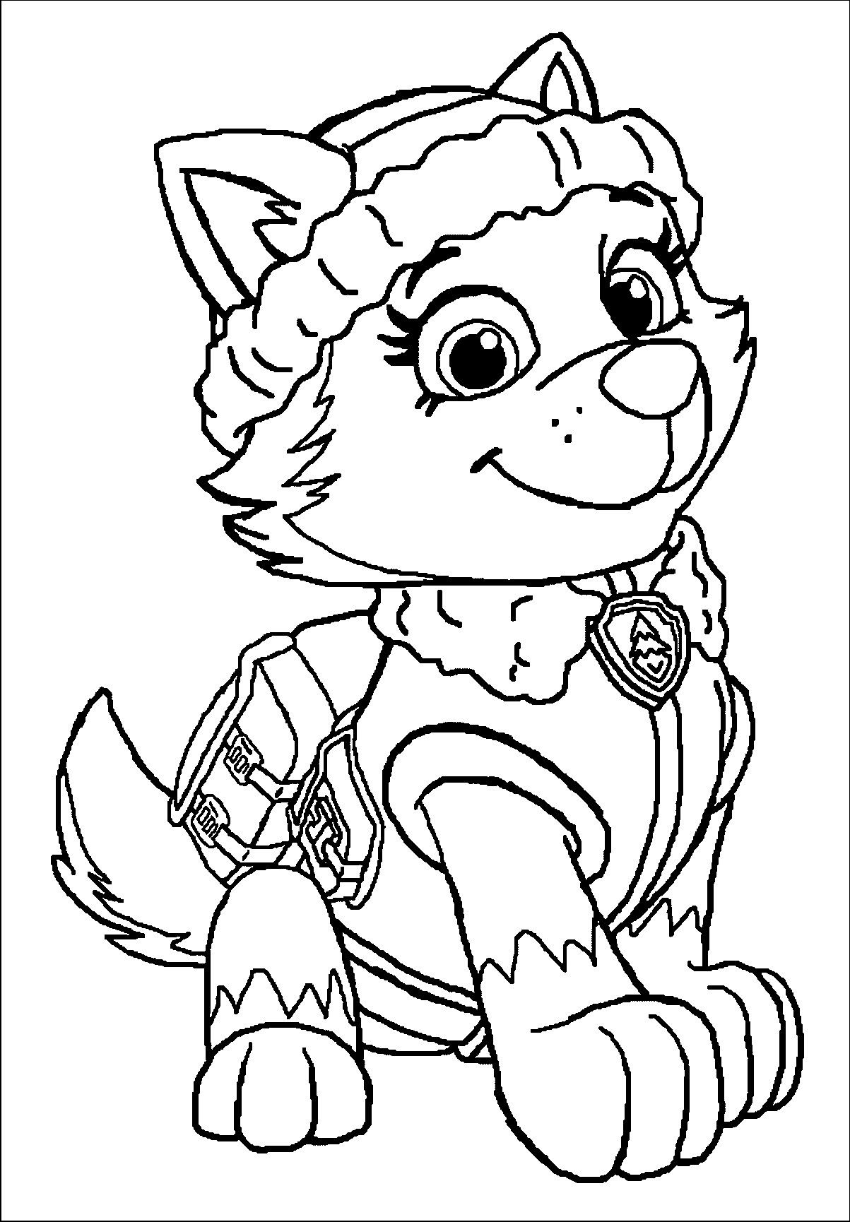 Everest Paw Patrol Coloring Page Youngandtae Com Paw Patrol Coloring Paw Patrol Coloring Pages Everest Paw Patrol