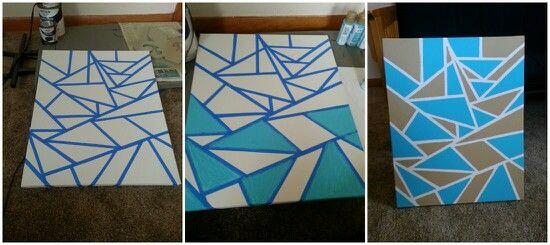 Canvas Duct Tape Paint Diy Art Diy Wall Decor Crafts