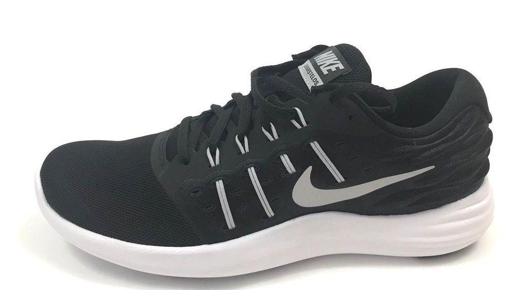 super popular 51774 79bc8 NIKE Men s Lunarstelos Running Shoe Black Metallic Silver Anthracite MSRP   85  shoes