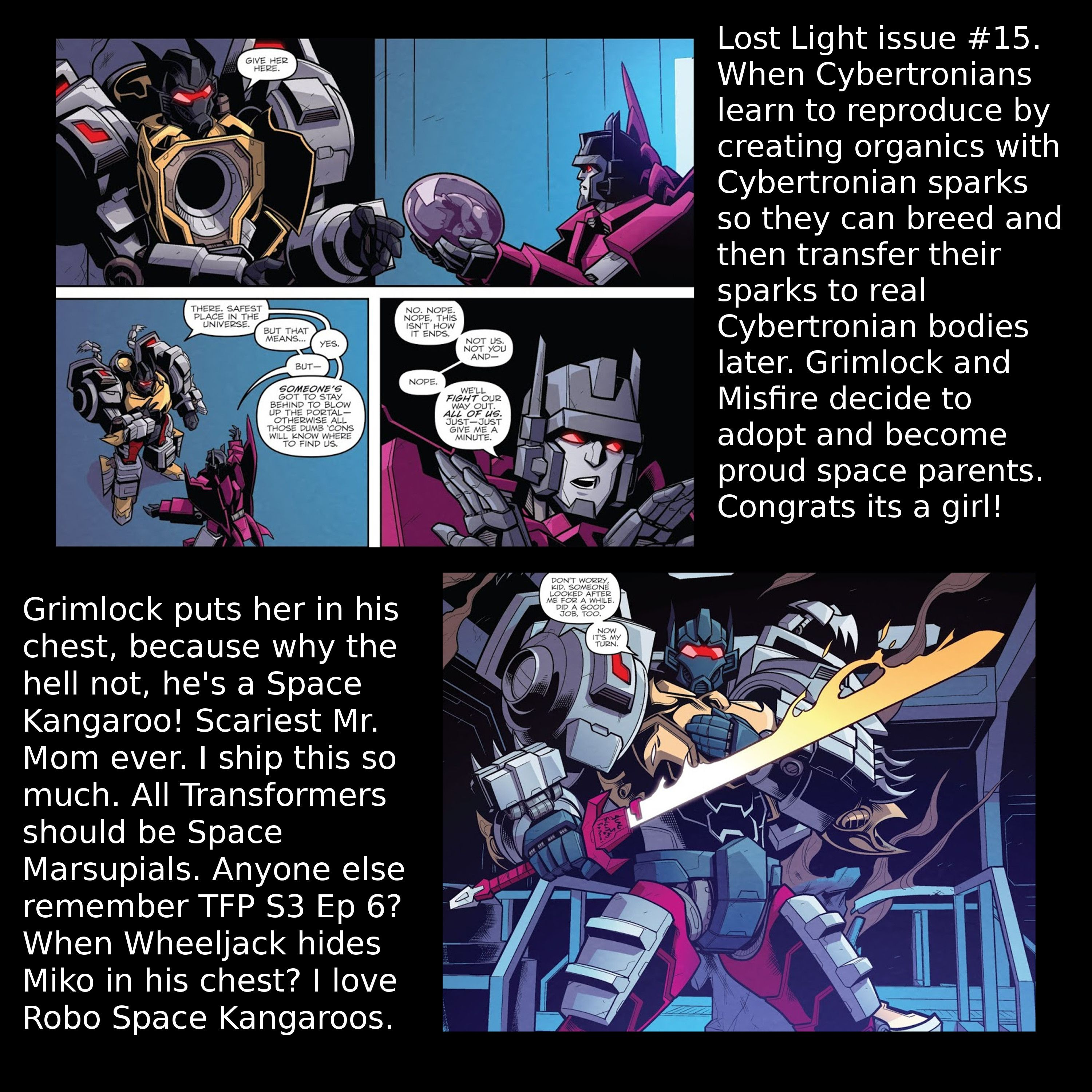 Okay so I thought that Grimlock and Misfire were the best of friends