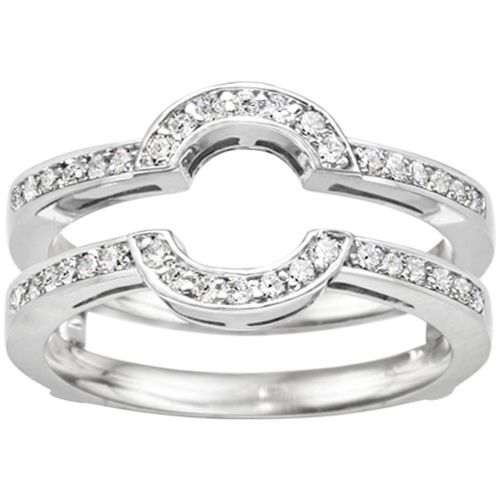Halo Ring Wrap Wedding Band For