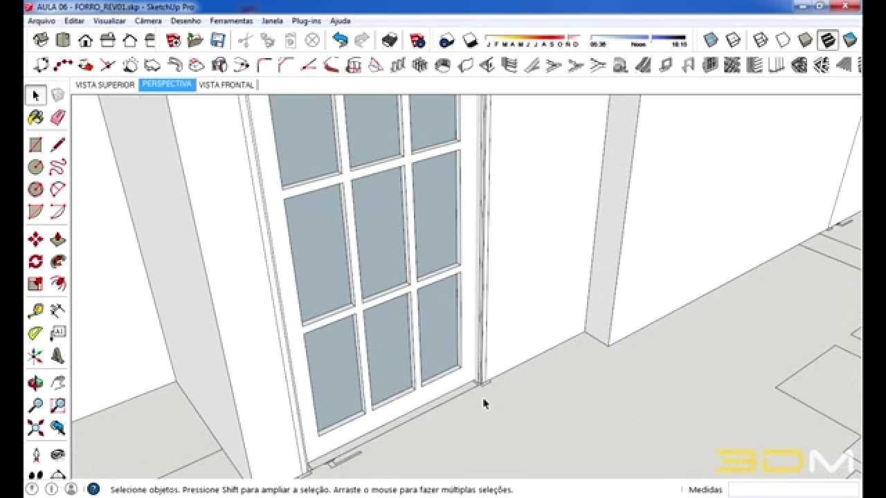 Tutorial Sketchup Portas Com 1001bit Tools Portas Arquitetura Dicas