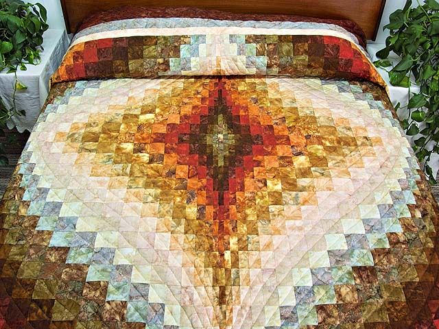 Free Bargello Quilt Patterns | Diamond Bargello Quilt